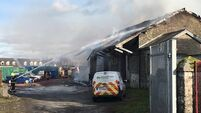 Video: Rail services affected after fire breaks out at Portarlington station