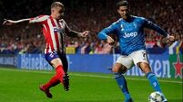 Hector Herrera's late strike earns Atletico Madrid draw with Juventus