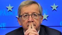 Irish stocks falter on Juncker no-deal threat