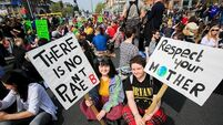 Hundreds take part in climate change protest in Dublin