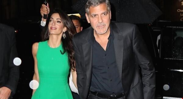 File photo of Amal and George Clooney