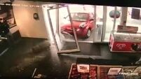 Watch: Lucky escape for Shannon shoppers after car crashes into filling station