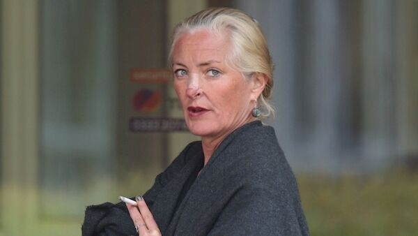 Simone Burns outside Isleworth Crown Court in London where she is appearing for sentencing following an incident in which she spat at a plane crew in a racist rant on a flight from India to London. Credit: Yui Mok/PA Wire