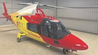 Air ambulance service waiting for lift-off