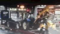 Watch: 'People could have been killed' - Load carried by truck collides with Dublin bridge