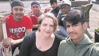 Asylum seekers going batty for cricket