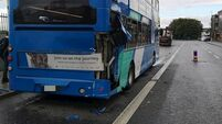 Four people receive treatment after bus and lorry collide in Dublin