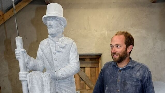 WATCH: Moby Dick sculpture sees Ahab return to Youghal