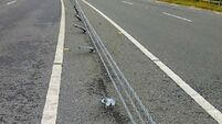 Damaged wire barriers on roads will 'skewer' someone