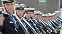Naval officers fill in for junior ranks