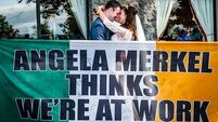 Angela Merkel's message a hit at Irish wedding