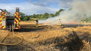 Dublin Fire Brigade respond to baling machine blaze
