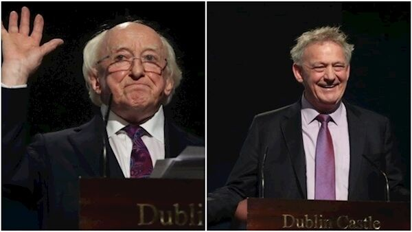 Michael D Higgins and Peter Casey