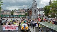 Hundreds protest in Cork city against closure of An Post mail centre
