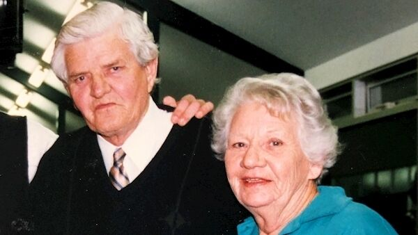 Samuel Gilmour with his wife Marjorie in the early 90s.