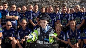 Members of An Garda Síochána cycle 280km from Dublin to Cork in aid of sick children