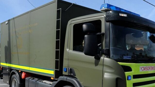 Bomb disposal team attending to suspect device in Dublin