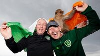 In pictures: Irish fans acting the ape in Gibraltar