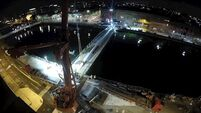 Incredible time-lapse video shows Cork's newest bridge being installed