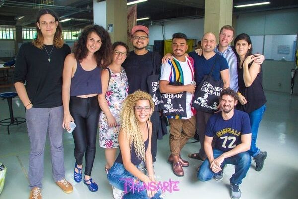 Trans and LGB artists, activists and educators from Rio de Janeiro and London. TransArte Festival Team, Author provided