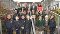 Cork school welcomes eight sets of twins for their first day of school
