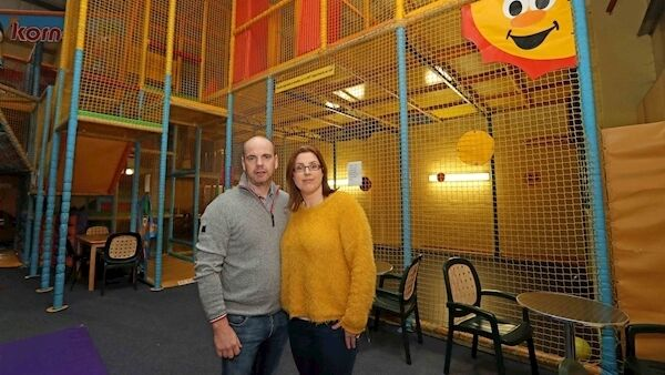 Michael and Lisa O'Callaghan, owners of Kool Kidz Korner. EPicture: Jim Coughlan.