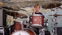 Watch as young Donegal drummer Finlay, 6, quite literally rocks the radio