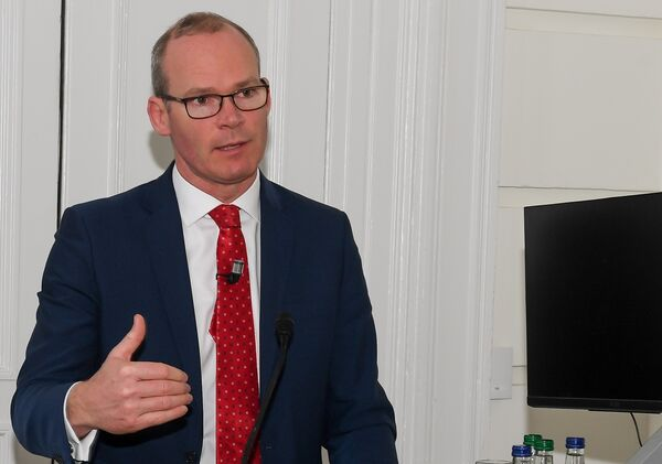 Tánaiste Simon Coveney speaking at the 'Irish Examiner' Cork on the Rise event. Pictures: David Keane