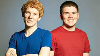 Limerick founders of $22.5bn company Stripe win Irish Times Business Person of the Year Award