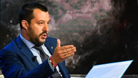 ITALY-POLITICS-TV-RAI-SALVINI
