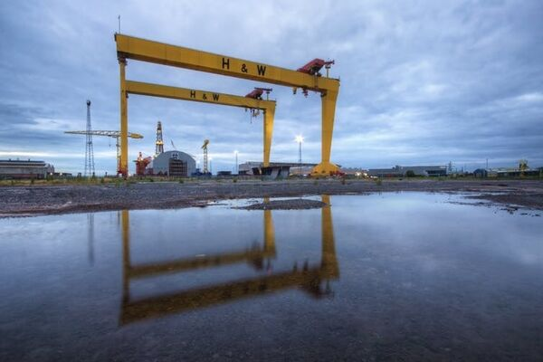H&W cranes, Goliath and Samson, are an iconic feature of the Belfast landscape.  Steven Hylands from Pexels, CC BY