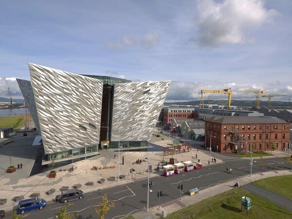 The Titanic Belfast visitor centre on the H&W site.  Titanic Belfast, CC BY