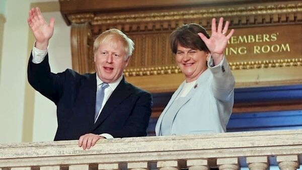 Boris Johnson visited Stormont before becoming UK PM. Niall Carson/PA