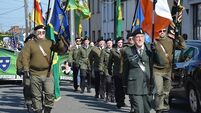 'Paramilitaries' march in Dublin - Clowns, and not in our name