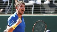 Wawrinka holds off late rally from Dimitrov in Cincinnati