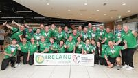 Transplant Team Ireland return to Dublin Airport and heroes welcome