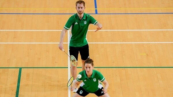 ; Team Ireland badminton players Sam Magee and Chloe Magee during training session in preparation for competition at the European Games in Minsk, at Sport Ireland Institute in Abbotstown, Dublin. Picture: Eóin Noonan/Sportsfile