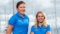 Annalise Murphy and Katie Tingle arrive in Germany ahead of Kieler Woche 2019