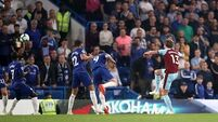 Irish star scores and Sarri sent to the stands as Chelsea held by Burnley