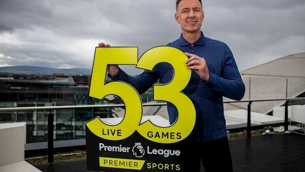 Chris Sutton at the launch of the Premier Sports coverage of the upcoming Premier League season
