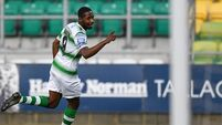 Daniel Carr slams into Shamrock Rovers' boss Stephen Bradley