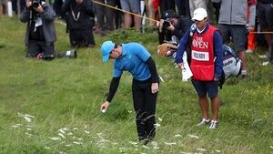 Rory McIlroy shoots disastrous quadruple-bogey on first hole as Shane Lowry holds early lead