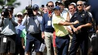 Rory McIlroy four shots off leader Hideki Matsuyama who breaks Medinah course record