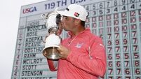 Woodland sees off Koepka to clinch first major title