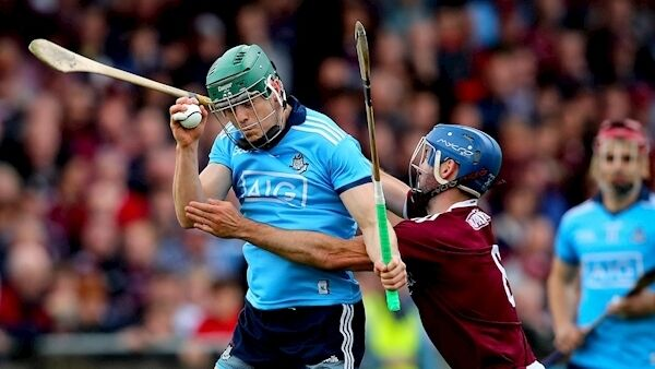 Dublin's Tom Connolly and Johnny Coen of Galway. Picture: INPHO/Ryan Byrne