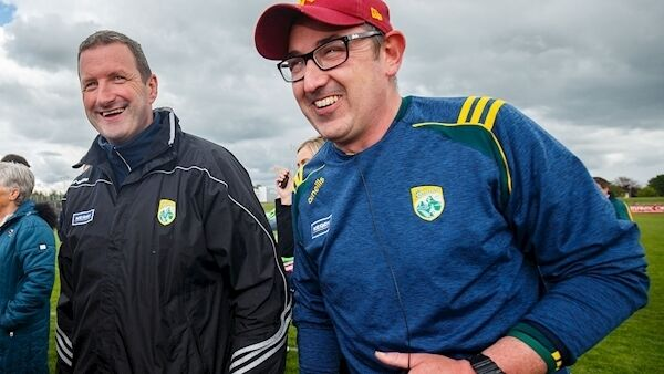 Kerry selector Brendan Cummins with manager Fintan O'Connor after the game