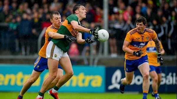 David Clifford of Kerry in action against Cillian Brennan of Clare. Photo: Diarmuid Greene/Sportsfile
