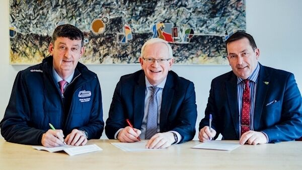 Limerick GAA Chairman John Cregan, LIT President Dr. Vincent Cunnane and Gaelic Grounds Chairman Paul Foley pictured as  LIT and Limerick GAA signed a major 10-year partnership. Pic: Brian Arthur