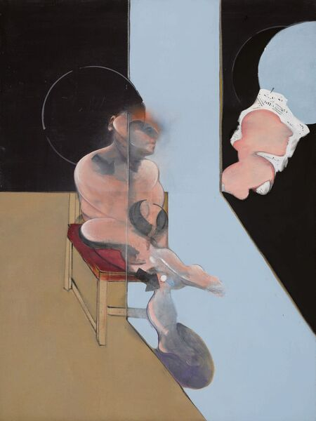 Francis Bacon's 'Study for a Portrait' (1981) at Sotheby's.