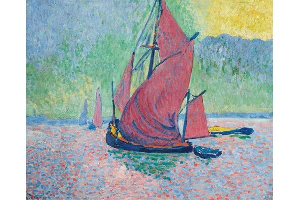 Andre Derain's 'Les Voiles Rouges' from the collection of Titi von Furstenberg at Christie's.
